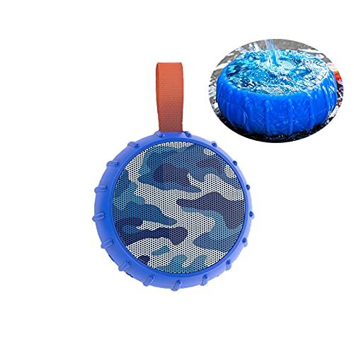 GJX-LB Bluetooth Lautsprecher,Bluetooth-Lautsprecher, Duschlautsprecher Wasserdicht, Tragbare, Drahtlose Lautsprecher, Bluetooth 5.0, Laute Stereo-Outdoor-Sport-Anti-Herbst für drinnen/draußen