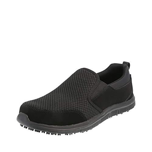 safeTstep Black Women's Slip Resistant Avail Slip-On 9 Wide
