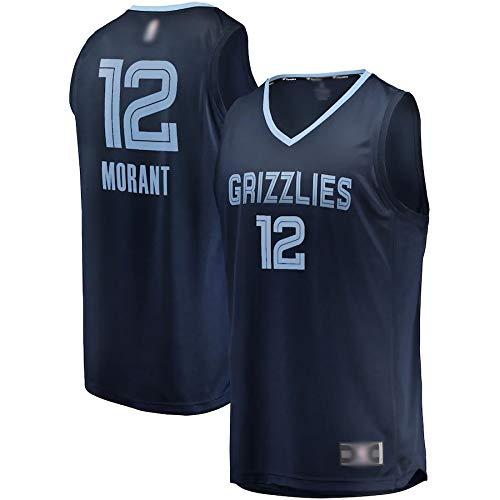 WEVB Camiseta de entrenamiento de baloncesto personalizada #12 azul marino, 2019 Draft First Round Pick Fast Break Réplica de camiseta transpirable ropa deportiva para hombres - edición icono