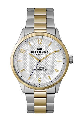 Ben Sherman Herren Analog Quarz Uhr mit Aluminium Armband WB025SGM