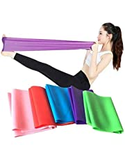 SKY-TOUCH Flat Resistance Band, Elastic Exercise Equipment, Straight Stretching Fitness Training for Full Body Leg, Crossfit PT Yoga Stretch Rehab Therapy, Home Gym for Men & Women (5 Piece Set)