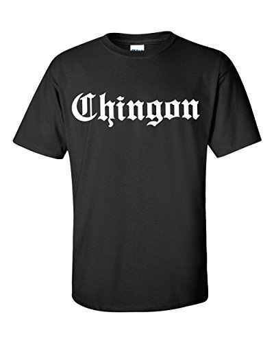 Chamuco Customs Chingon Funny Mexican Chicana Spanish T-Shirt (Large) Black