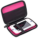 Aproca Hard Storage Travel Case Bag for VTech KidiBuzz / VTech KidiBuzz G2 Kids' Electronics Smart Device (Black - Inner Pink)