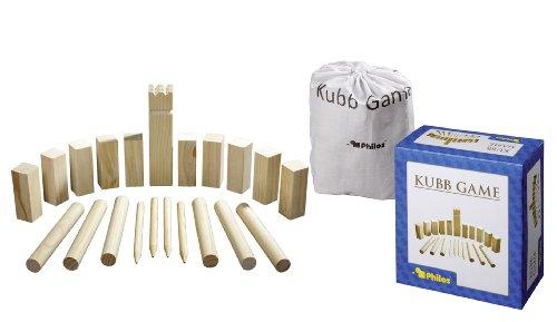 Philos 3313 - Kubb Game, Originalgröße, Kiefer, Wurf- und Geschicklichkeitsspiel