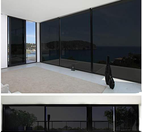 Aangepast formaat Zwarte isolatie Raamfolie Zelfklevende Anti-UV Warmte-isolatie Raamfolie Verduistering Raamfolie, 60cmx150cm