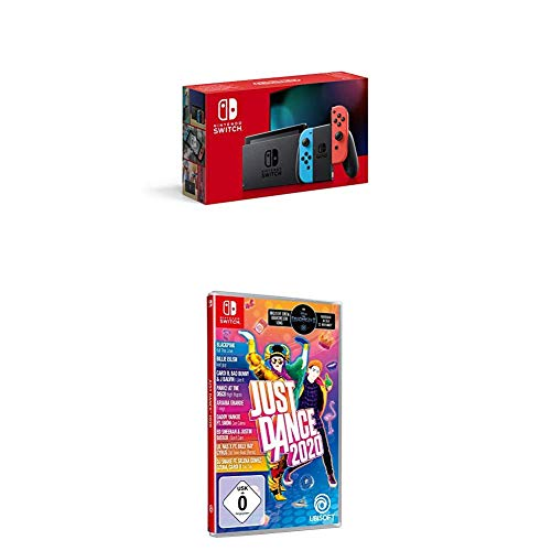 Nintendo Switch Konsole - Neon-Rot/Neon-Blau (2019 Edition) + Just Dance 2020 (Switch)