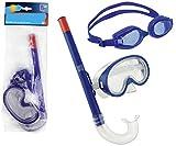 Smart-Planet Schwimm- und Tauch-Set 3-in-1 für Kinder und Jugendliche - blau - Schnorchel -...