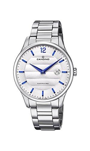 Candino Herren Datum klassisch Quarz Uhr mit Edelstahl Armband C4637/1