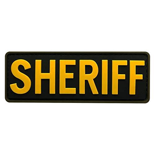 Miltacusa Sheriff Tactical Hook Patch [3D-PVC Rubber-3.5 X 1.25 inch -SHR-1]