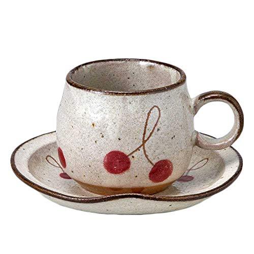 コーヒーカップ&ソーサー 珈琲碗皿 陶器/さくらんぼ赤丸型コーヒーC/S/業務用 贈り物 父の日 母の日 敬老の日 プレゼント