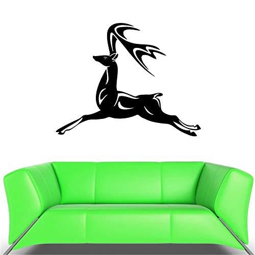 Wandaufkleber Kinderzimmer wandaufkleber 3d Rotwild-Elchhorn Lan, das springende Fliegen-Geschwindigkeits-Aufkleber laufen lässt