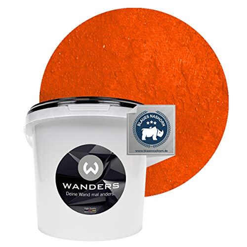 Wanders24 Rost-Optik (3 Liter, Rost-Orange) Wandfarbe für Rost-Effekt, individuelle Gestaltung für Zuhause, Farbe Made in Germany