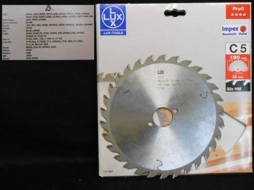 OBI LUX 117451 C5 Profi HM-Kreissägeblatt 190 x 30 mm, 30 Z