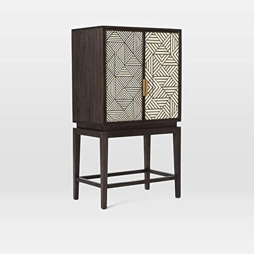 Bone Inlay Bar Cabinet Handmade Stunning Bar Furniture with Free Shipping and Insurance by hpCreations