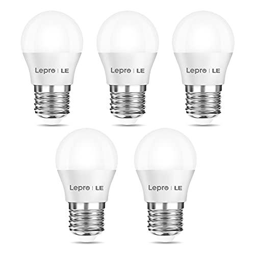 LE E27 LED Lampe, 3.8W 250 Lumen LED Birne, 2700 Kelvin Warmweiß entspricht 25W Glühlampe, G45 180°Strahlwinkel Leuchtmittel, 5er Pack
