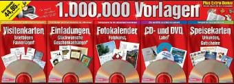 1.000.000 Vorlagen, 5 CD-ROMs u. 1 DVD-ROMPlus Extra-Bonus: 150.000 tolle ClipArts. Für Windows 98Se/Me/XP