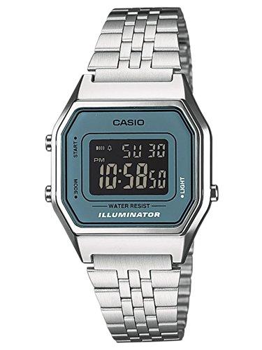 Casio Damen-Armbanduhr Casio Collection Digital Quarz Edelstahl LA680WEA-2BEF