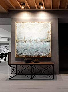 48 x 48 Original Large Square Abstract Painting Textured Contemporary Art Modern Painting handmade by L.Beiboer
