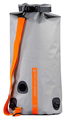Wilderness Systems Waterproof XPEL Dry Bag with Valve & Shoulder Strap - Size, Grey, 50L