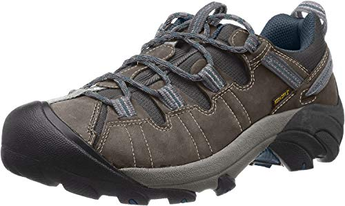 KEEN Men's Targhee II Hiking Shoe, Gargoyle/Midnight Navy - 7 D(M) US