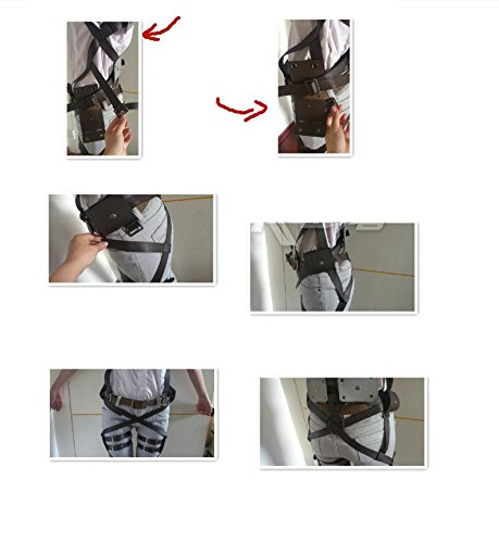 『進撃の巨人 全身 ベルトセット フリーサイズ コスプレ衣装 ベルト類 調査兵団 男女兼用 sdd009』のトップ画像