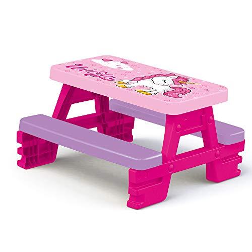 Dolu Unicorn Pink Kids Picnic Table