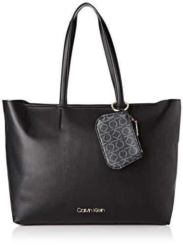 Calvin Klein Damen Ck Must F19 Med Shopper Umhängetasche, Schwarz (Black), 27x39x11cm