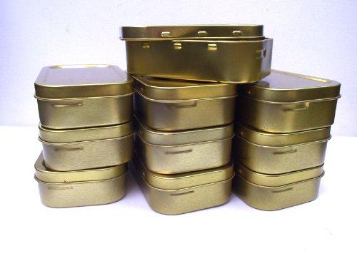 MD FlashLights Etc Ltd 30 x 10 ML Tabac/Survie/boîte de Rangement avec Joint en Caoutchouc