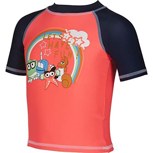 ARENA Mädchen UV-T-Shirt AWT Kids Girl UV S/S Tee 002053 Shiny PINK-Navy 98