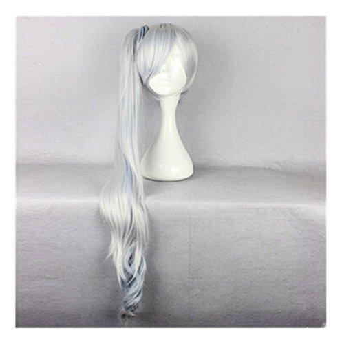 Kadiya Cosplay Wig White Blue Mixed Long Curly Fashion Hair