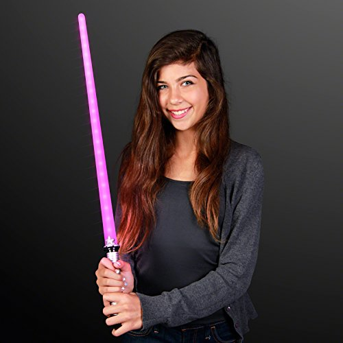 FlashingBlinkyLights Pink LED Light Saber Sword