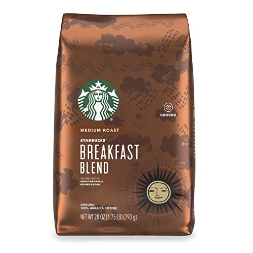 Starbucks Medium Roast Ground Coffee — Breakfast Blend — 100% Arabica — 1 bag (28 oz.)