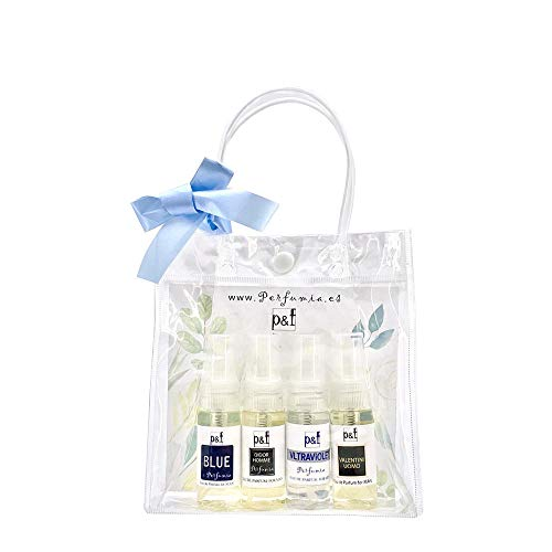 Set regalo 4 perfumes Hombre by p&f Perfumia, vaporizador (4 x 25 ml = 100 ml)