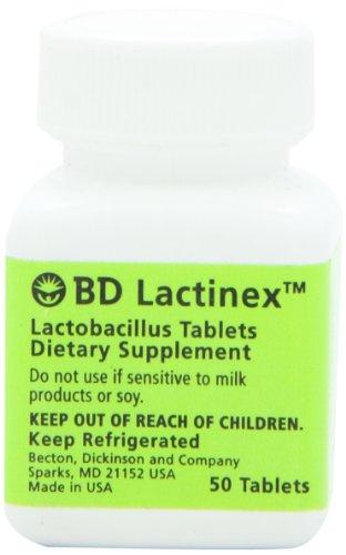 BD Lactinex Lactobacillus Probiotic Dietary Supplement Tablets (50 Count)