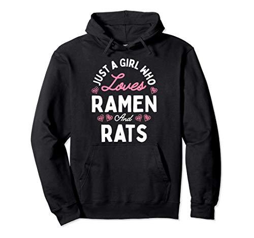 Nur Ein Mädchen Das Ramen und Ratten Frauen Geschenke Liebt Pullover Hoodie
