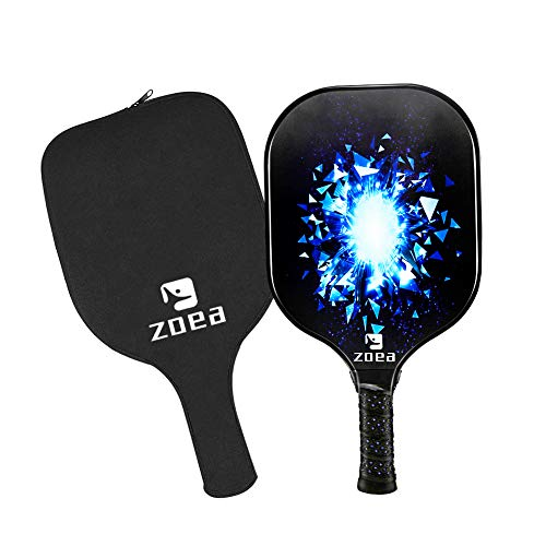 ZOEA Pickleball Paddle, Graphite Pickleball Racket With Carbon Fiber Surface and Polymer Honeycomb Composite Core for Outdoor and Indoor, Durable and Light Weight