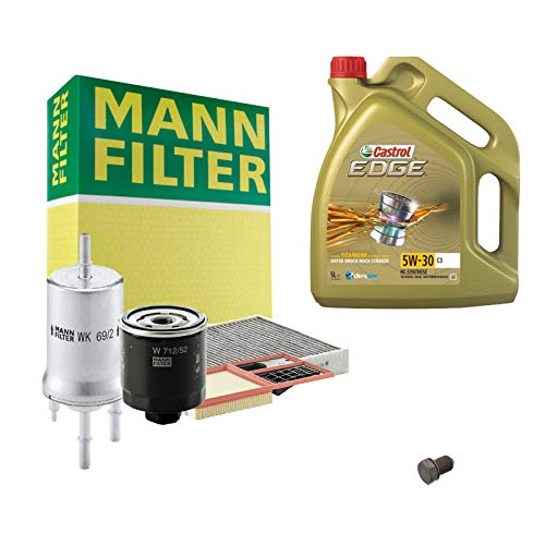Inspektionspaket MANN-FILTER + 5L Castrol Edge 5W30 Filterset Service-Set SET P-H-05-00075 Service/Wartung