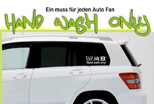 Autoaufkleber-Scheibentattoo 2er SET ***hand wash only 2 - Symbole*** - freie Folienfarbwahl!