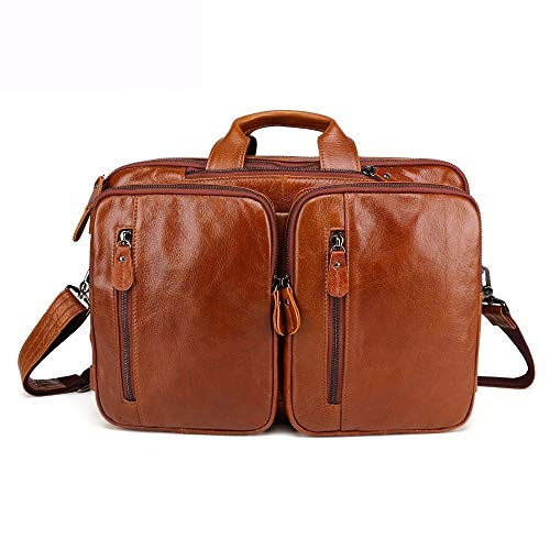 Herenmode schouder diagonaal pakket, multifunctionele tas speelruimte rugzak ongevoelig leer laptop messenger bag business computer aktenkoffer voor mannen