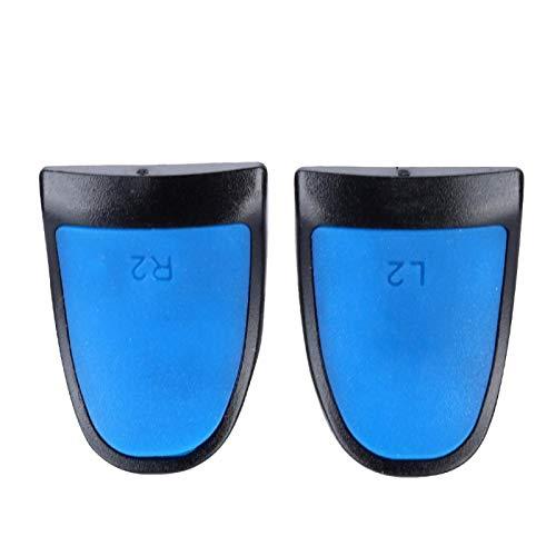 Mxzzand Extensores de Controlador Trigger Soft Extended Grips L2 R2 para PS4(Blue, 1 Set of 2)