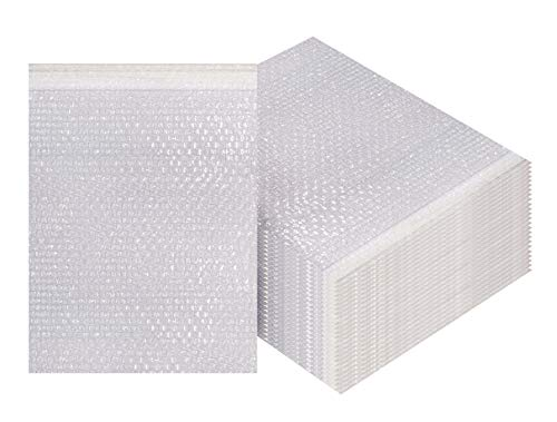 Bubble Out Bags 8 x 11.5 Clear Cushioned Pouches 8 x 11 1/2 by Amiff. Pack of 25 Bubble Pouch Bags. Self-Sealing. Mailing, Shipping, Packing, Packaging, Storage and Moving.