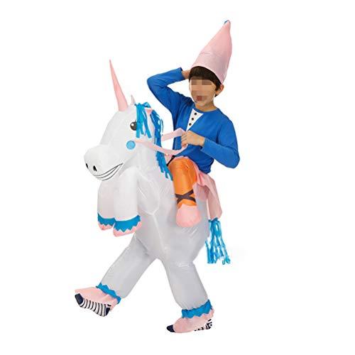 PRETYZOOM Halloween Erwachsene Aufblasbare Einhorn Kostüm Festliche Party Ball Zeigen Kostüm Karneval Halloween Party Cosplay Anzüge