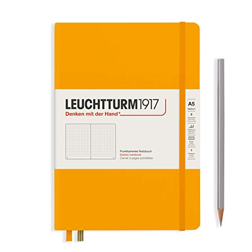 LEUCHTTURM1917 363387 Notizbuch Medium (A5), Hardcover, 251 nummerierte Seiten, Rising Sun, dotted