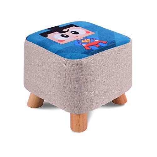 Sofa kruk Comfortabel Thuis Cartoon Katoen En Linnen Kleine Ronde Kruk Eenvoudige Creatieve Slaapkamer Woonkamer Bench Luie Schoenen praktisch
