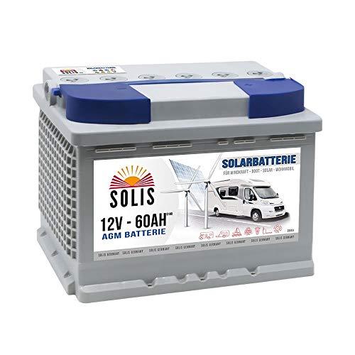 AGM Solarbatterie 60AH Boots Wohnmobil Solar Versorgungs Batterie 65Ah