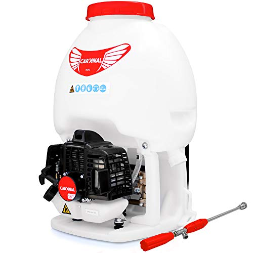 Cardinal 1.8HP Gas Powered Backpack Sprayer 435 PSI Pump 5 Gallon Tank for Liquid Insecticide Pest Control and Fogging Attachment