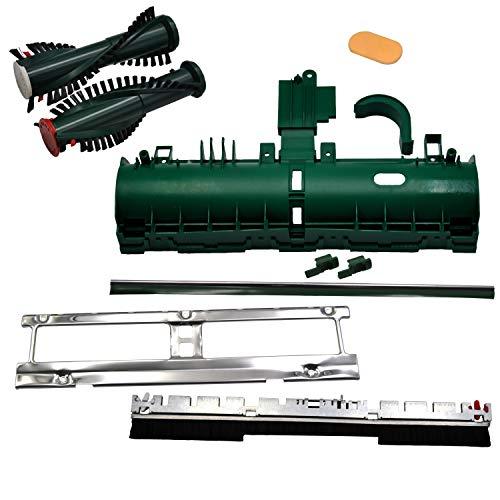 Getriebetunnel Mega Set geeignet für Vorwerk Elektroteppichbürste EB 350 351 Getriebetunnel Frontbürste Bodenblech Kehrlippe Nebenluftpropfen Bürsten