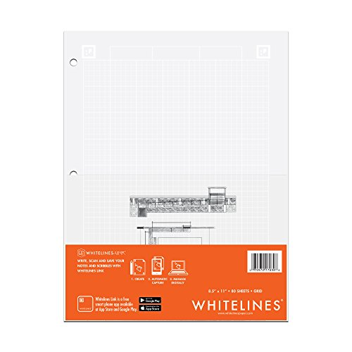 Whitelines Engineering Computation Pad 8.5'X11' 80 Sheets-Grey