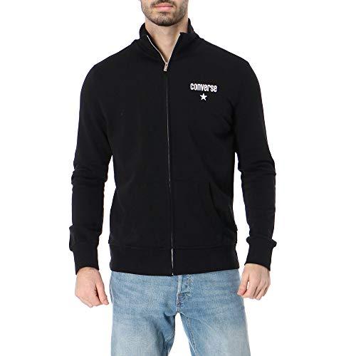 Converse Sweatshirt All Star Full Zip ohne Kapuze Schwarz 10020034, Schwarz X-Small