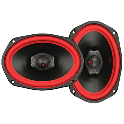 CERWIN VEGA V469 6-Inch x 9-Inch 500 Watts Max/100Watts RMS Power Handling 2-Way Coaxial Speaker Set, Black